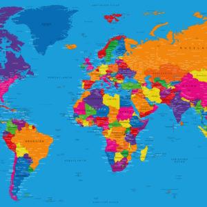Klassische Weltkarte – Danakil