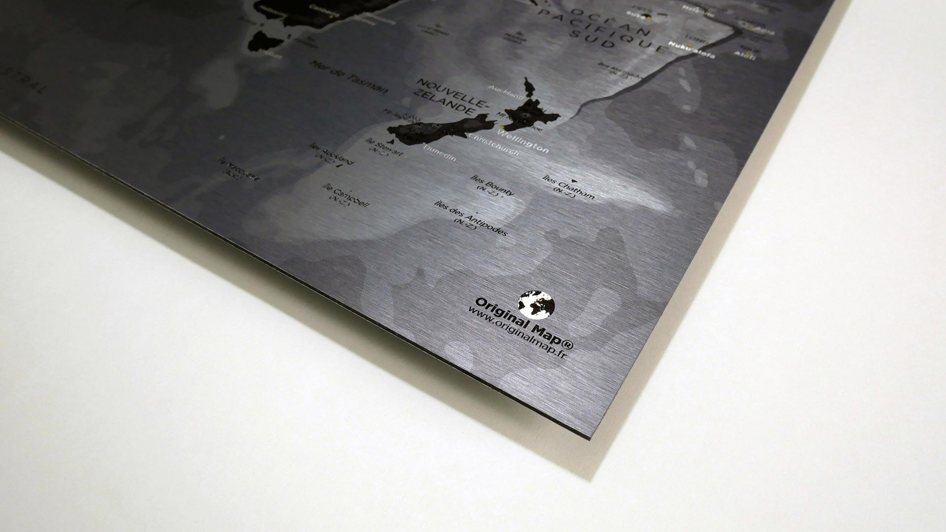 Weltkarten Metallic