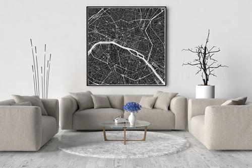 Paris-Karte-Stadtkarte