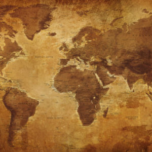 Alte Weltkarte – Gizeh