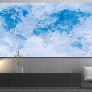 Weltkarte mit Aquarelleffekt – Uyuni