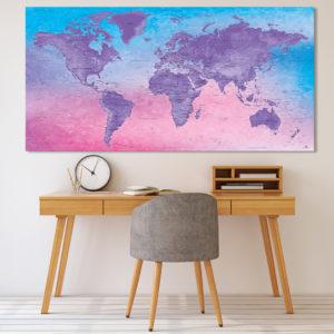 Dekorative Weltkarte – Fuji