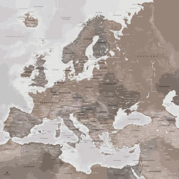 Europakarte_Kontinent