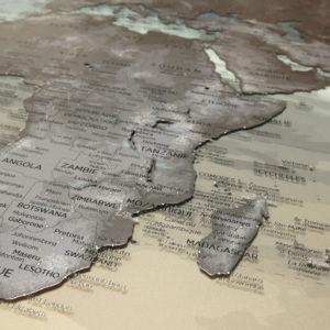 Doppelseitige Plexiglas-Weltkarte 2/2