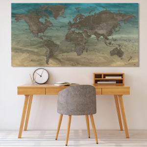 Originelle Weltkarte – Gobi