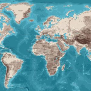 Wand Planisphäre – Moaï