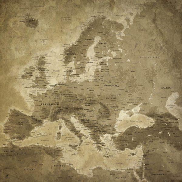 Wanddekoration_Karte_Europa