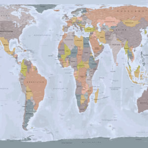 Gall Peters Relief Weltkarte – Angkor