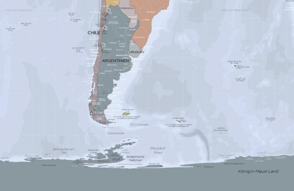 Weltkarte-Gall-Peters-Projektion