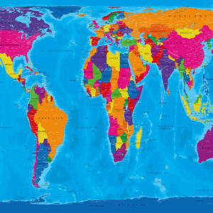 Gall-Peters-Weltkarte – Manarola