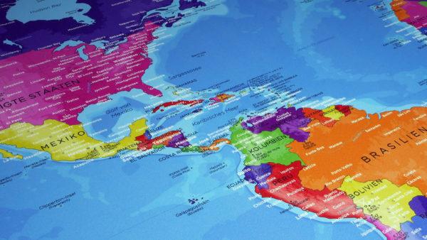 Weltkartenmalerei