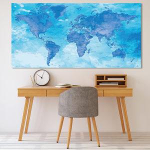 Weltkartenplakat – Chefchaouen