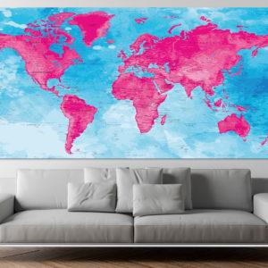 Weltkartenposter – Darvaza