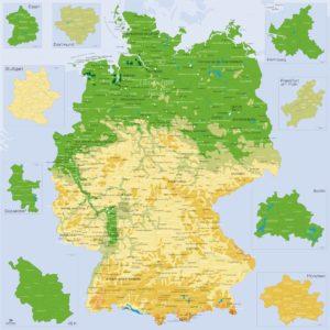 Detaillierte Karte Deutschlands