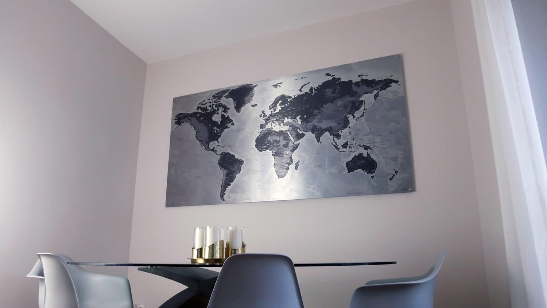 Metallische-Weltkarte
