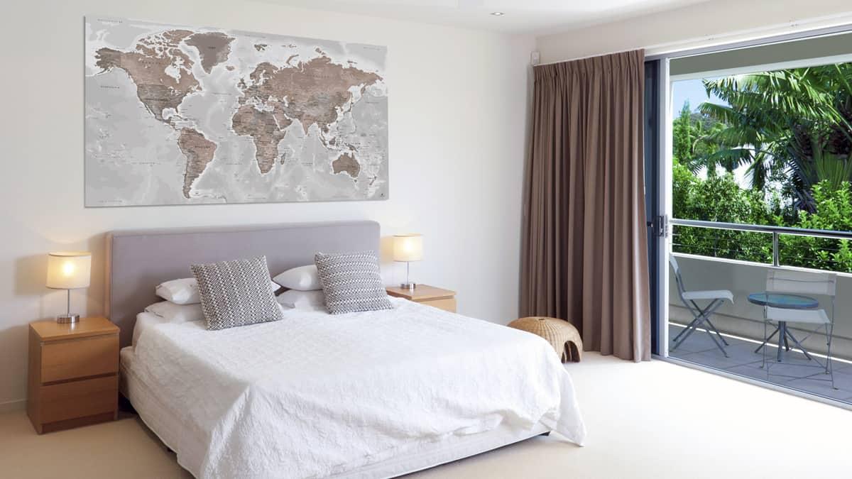 Planisphare-Weltkarte