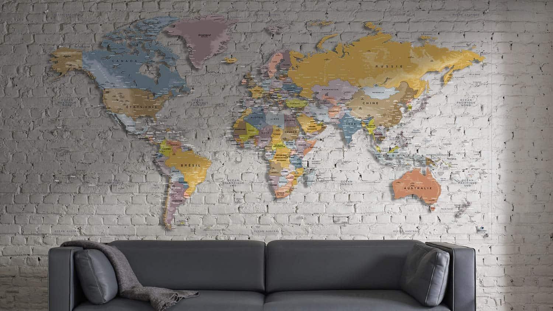 Plexiglas-Weltkarte