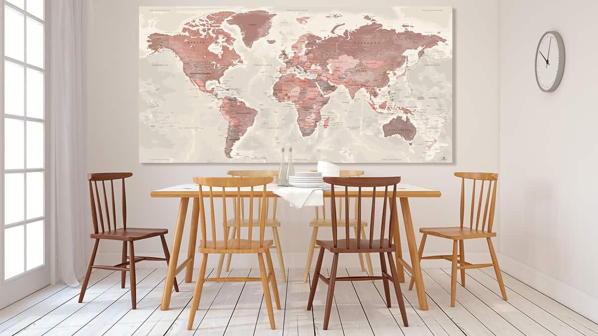 Poster-Weltkarte