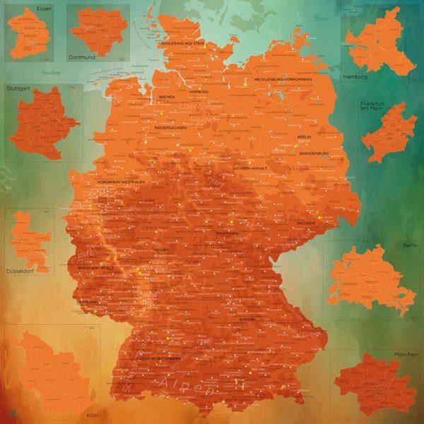 Wanddekoration_Karte_Deutschland