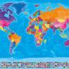 Weltkarte-Flaggen